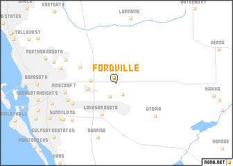 map of Fordville