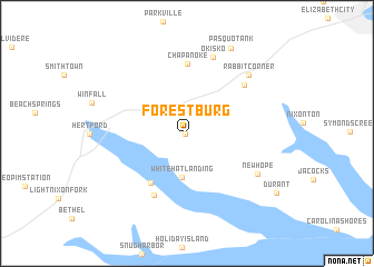 map of Forestburg