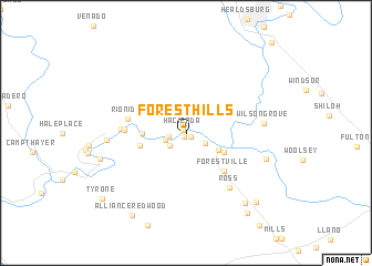 map of Forest Hills