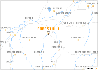 Forest Hill Australia map  nonanet
