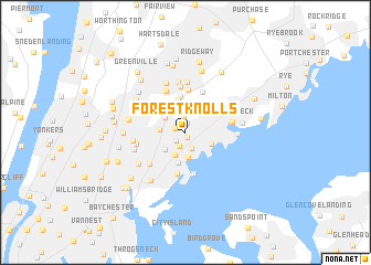 map of Forest Knolls