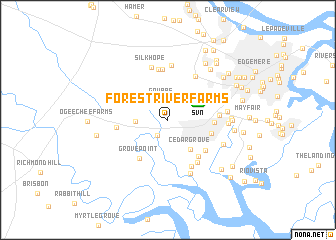 map of Forest River Farms