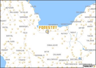 map of Forestry