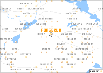 map of Forserum