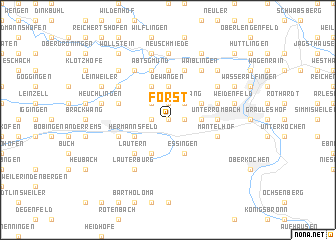 map of Forst