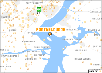 Fort Delaware United States USA Map Nonanet - Delaware on usa map