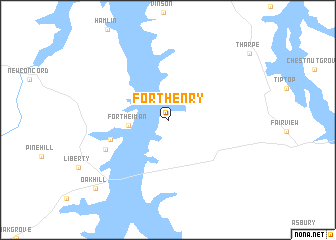 Fort Henry United States USA Map Nonanet - Ft henry on us map