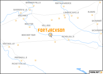 Fort Jackson Map Fort Jackson (United States   USA) map   nona.net