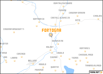 map of Fortogna