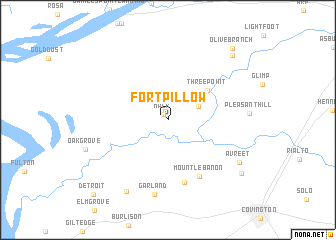 Fort Pillow United States USA map nonanet