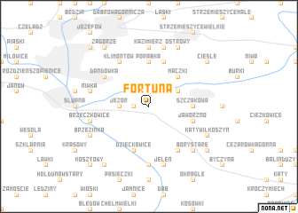 map of Fortuna
