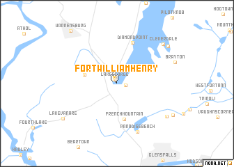 Fort William Henry United States USA Map Nonanet - Ft henry on us map