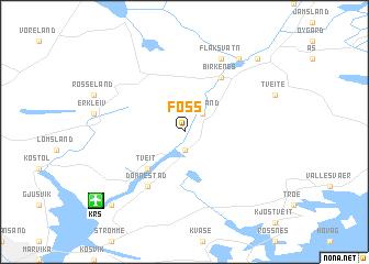 map of Foss