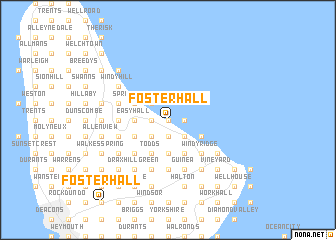 map of Foster Hall