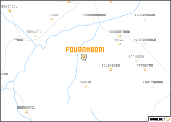 map of Fouanmbori