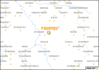 map of Fouanou