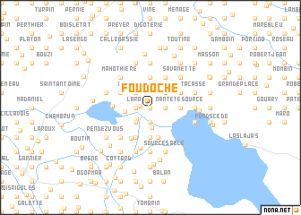 map of Foudoche