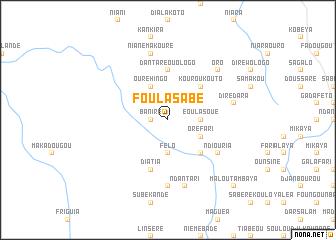 map of Foula Sabé