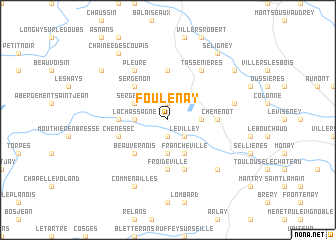 map of Foulenay