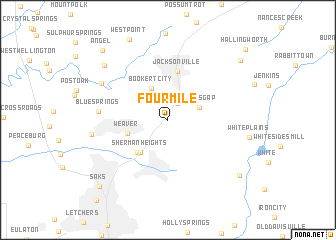 map of Four Mile