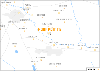 map of Four Points