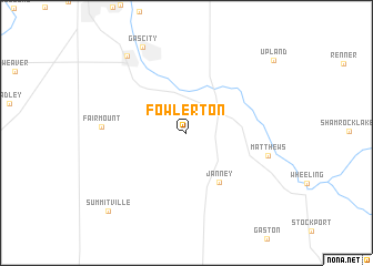 map of Fowlerton