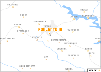 map of Fowlertown