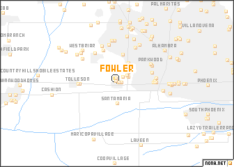 map of Fowler