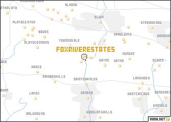 map of Fox River Estates