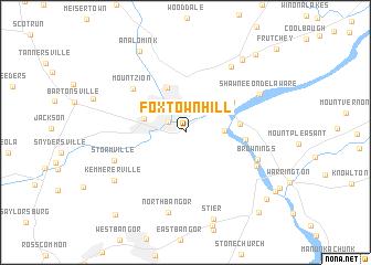 map of Foxtown Hill