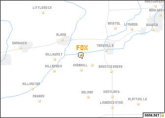 map of Fox