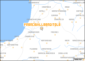 map of Francavilla Angitola