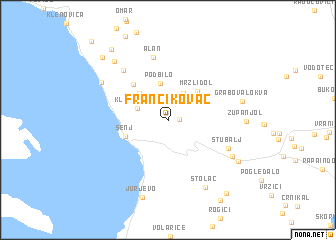 map of Francikovac