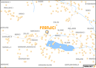 map of Franjići