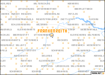 map of Frankenreith