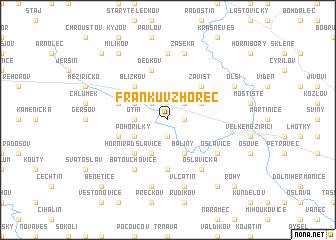 map of Frankŭv Zhořec