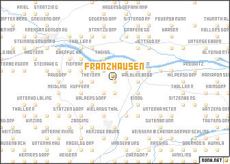 map of Franzhausen