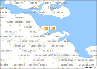 map of Frätow