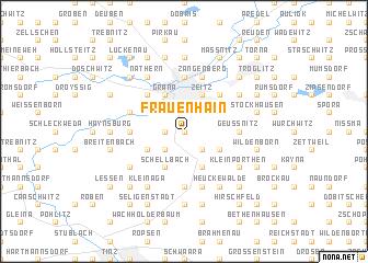map of Frauenhain