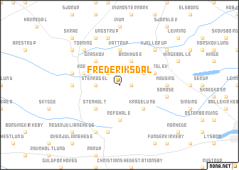 map of Frederiksdal