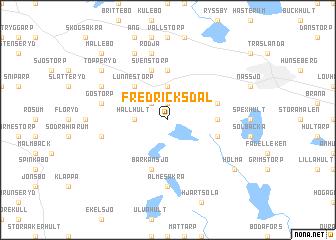 map of Fredricksdal