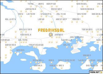 map of Fredriksdal