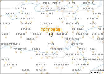 map of Fredropol