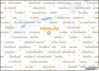 map of Freidling