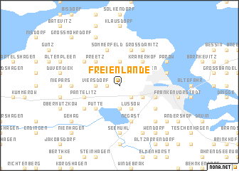 map of Freienlande