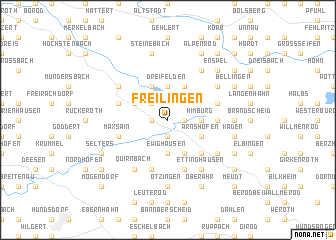 map of Freilingen