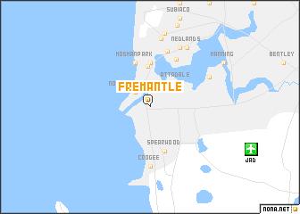 Fremantle Australia map nonanet
