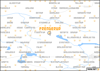map of Frenderup
