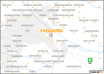 map of Freudenau