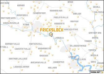 map of Fricks Lock